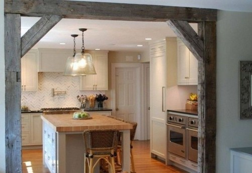 Cool Farmhouse Kitchen Decor Ideas On a Budget 52