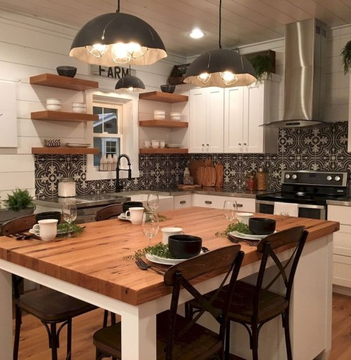 Cool Farmhouse Kitchen Decor Ideas On a Budget 53