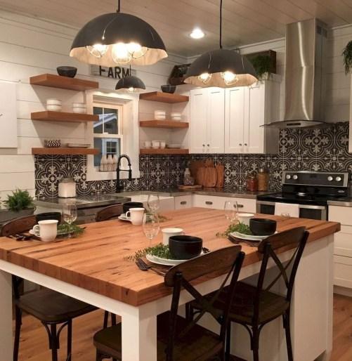 Cool Farmhouse Kitchen Decor Ideas On a Budget 53