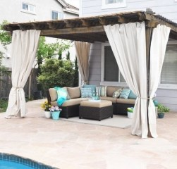 Outdoor Curtain Ideas to Spice Up Your Outdoor Space 16