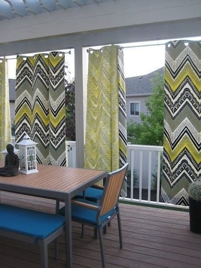 Outdoor Curtain Ideas to Spice Up Your Outdoor Space 23