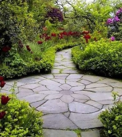Stunning Garden Path and Walkways Design to Beautify Your Garden 25