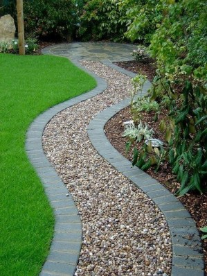 Stunning Garden Path and Walkways Design to Beautify Your Garden 60