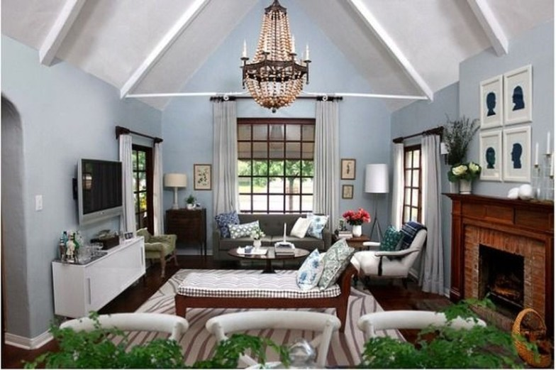Amazing Small Living Room Design to Make Feel Bigger 08