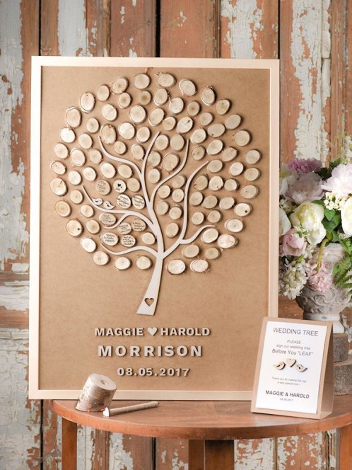Beautiful Decorations for Your Wedding Decoration with Wooden Slices09