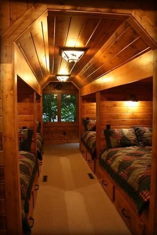 Bunk Beds with Wooden Wall Design 09
