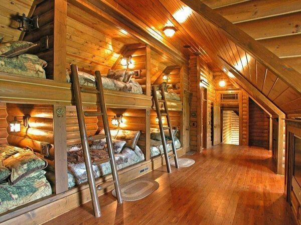 Bunk Beds with Wooden Wall Design 13