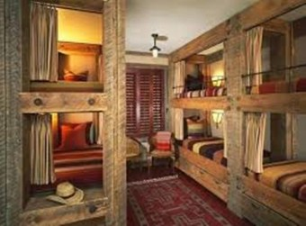 Bunk Beds with Wooden Wall Design 16