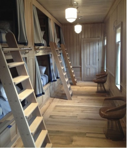 Bunk Beds with Wooden Wall Design 18