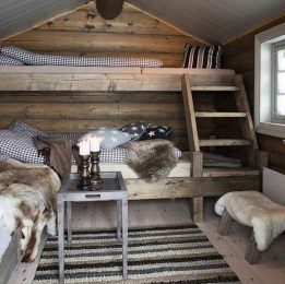 Bunk Beds with Wooden Wall Design 22