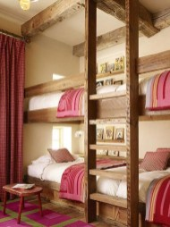 Bunk Beds with Wooden Wall Design 23