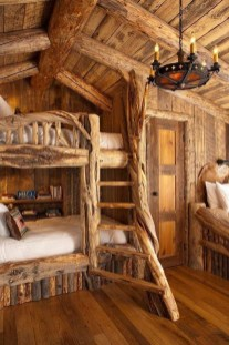 Bunk Beds with Wooden Wall Design 32