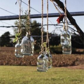 Charming Backyard Ideas Using an Empty Glass Bottle12