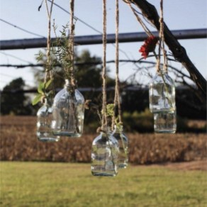 Charming Backyard Ideas Using an Empty Glass Bottle12