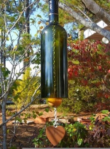 Charming Backyard Ideas Using an Empty Glass Bottle17
