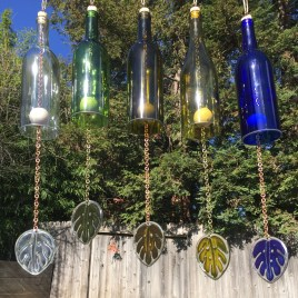 Charming Backyard Ideas Using an Empty Glass Bottle20