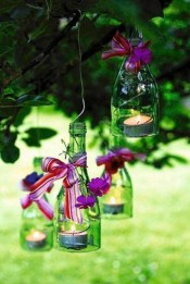 Charming Backyard Ideas Using an Empty Glass Bottle22