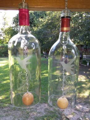 Charming Backyard Ideas Using an Empty Glass Bottle24