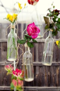 Charming Backyard Ideas Using an Empty Glass Bottle28