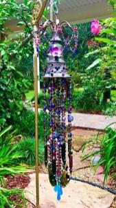 Charming Backyard Ideas Using an Empty Glass Bottle30