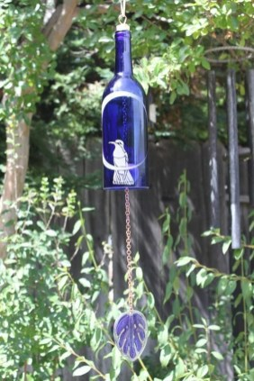 Charming Backyard Ideas Using an Empty Glass Bottle35