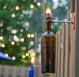 Charming Backyard Ideas Using an Empty Glass Bottle36