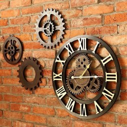 Gorgeous Wall Clock Decoration for Your Small Living Room01