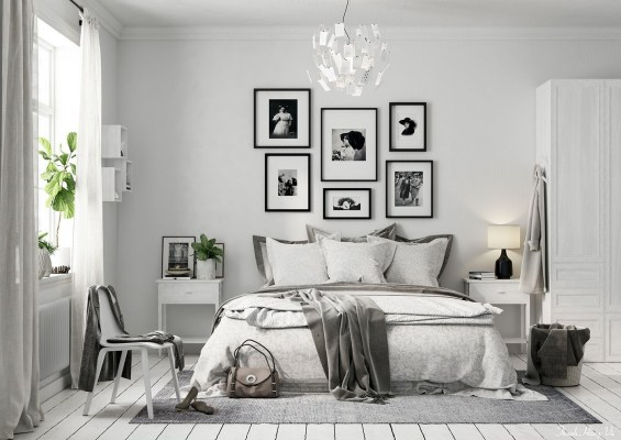 Simple And Memorable Photo Frame Decoration on Your Bedroom Wall 26