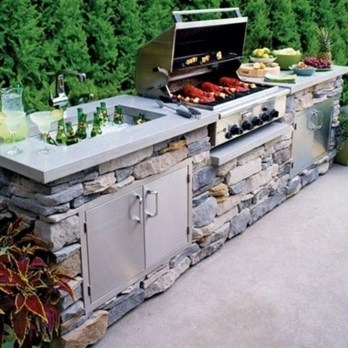 Amazing Outdoor Kitchen Bars to Finish This Summer 15