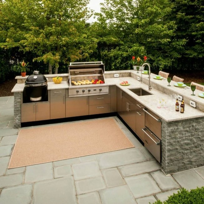 Amazing Outdoor Kitchen Bars to Finish This Summer 45