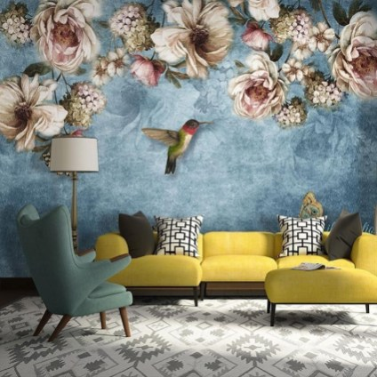 Best Wallpaper Decoration Designs to Enhance Your Family Room 52