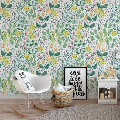 Best Wallpaper Decoration Designs to Enhance Your Family Room 53