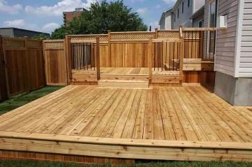 Easy DIY Wooden Deck Design For Backyard 03