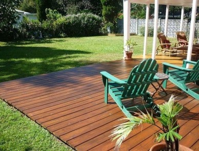 Easy DIY Wooden Deck Design For Backyard 04