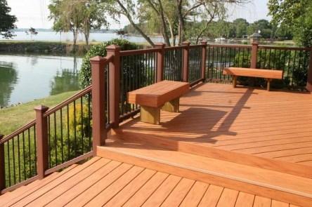 Easy DIY Wooden Deck Design For Backyard 06