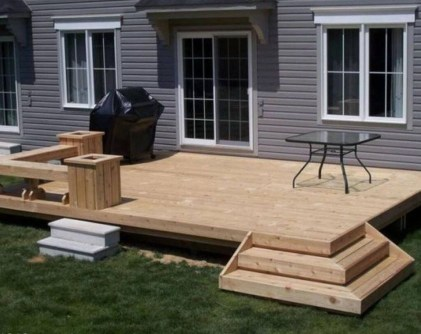 Easy DIY Wooden Deck Design For Backyard 12