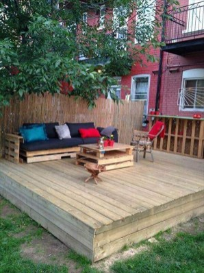 Easy DIY Wooden Deck Design For Backyard 17