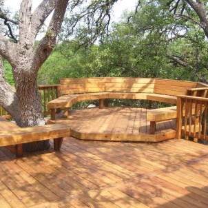 Easy DIY Wooden Deck Design For Backyard 20