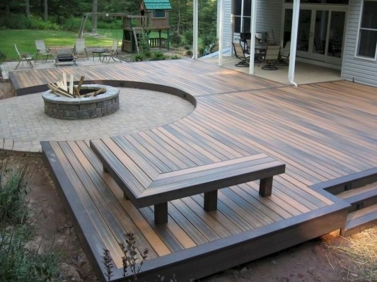 Easy DIY Wooden Deck Design For Backyard 26