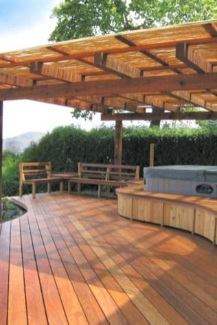 Easy DIY Wooden Deck Design For Backyard 32