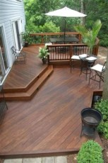 Easy DIY Wooden Deck Design For Backyard 33