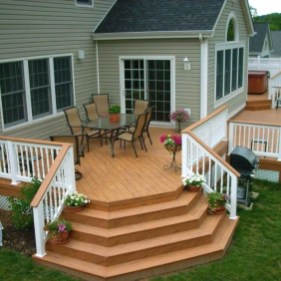 Easy DIY Wooden Deck Design For Backyard 41