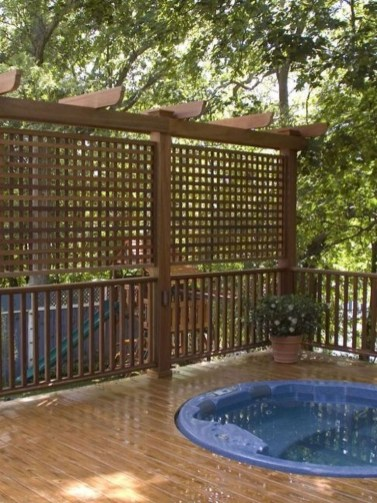 Easy DIY Wooden Deck Design For Backyard 44