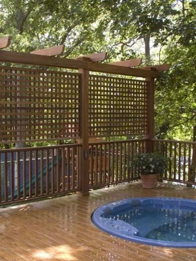 Easy DIY Wooden Deck Design For Backyard 44