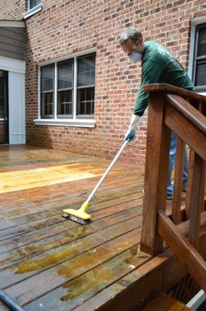 Easy DIY Wooden Deck Design For Backyard 45