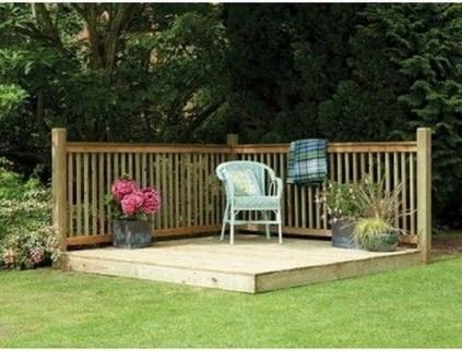 Easy DIY Wooden Deck Design For Backyard 46