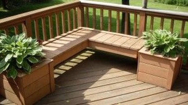 Easy DIY Wooden Deck Design For Backyard 49