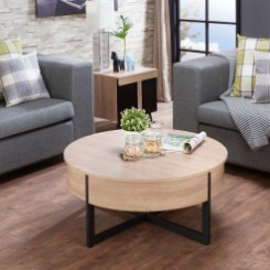 The Charm of Homely Contemporary Living rooms with Oval Coffee Table Decorations 11