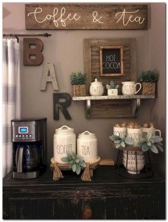 Best Coffee Bar Decorating Ideas for Your That Like a Coffee 05