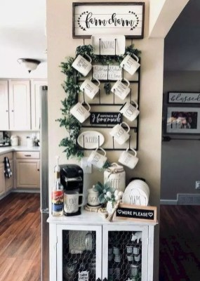 Best Coffee Bar Decorating Ideas for Your That Like a Coffee 07
